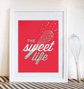 The Sweet Life - kitcken print by EttaVee Studio