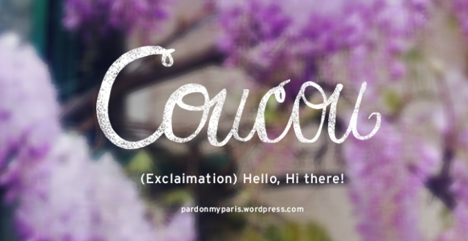 Kicking off this series of mini french lessons with my favorite word!!