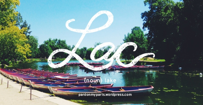 the daily french: lac