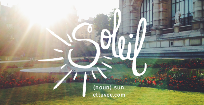 the daily french: soleil ettavee